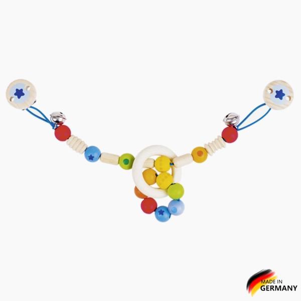 Kinderwagenkette Regenbogen Perlenring