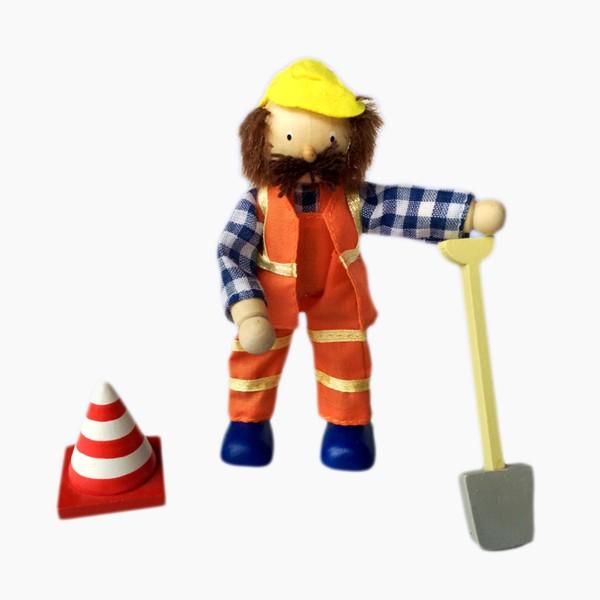 Biegepuppen Bauarbeiter 3