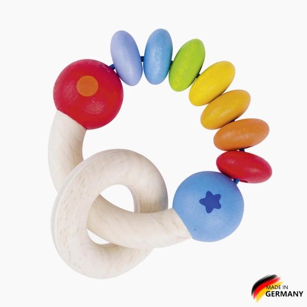 Regenbogen-Rassel Ring